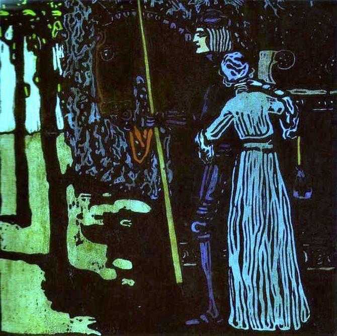Прощание. 1903. Vasily Kandinsky