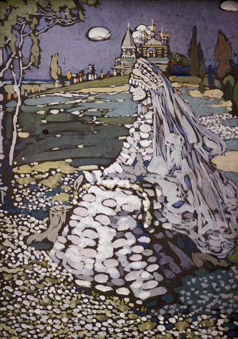 Невеста. Русская красавица. 1903. Василий Васильевич Кандинский