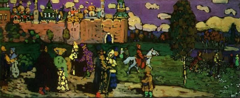 Русская сцена. 1904. Vasily Kandinsky
