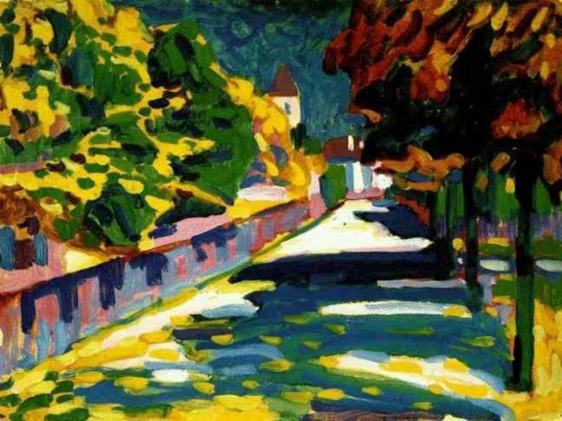 Осень в Баварии. 1908. Vasily Kandinsky