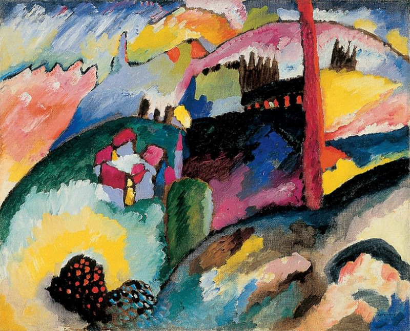 Без названия. (4) 1910. Vasily Kandinsky
