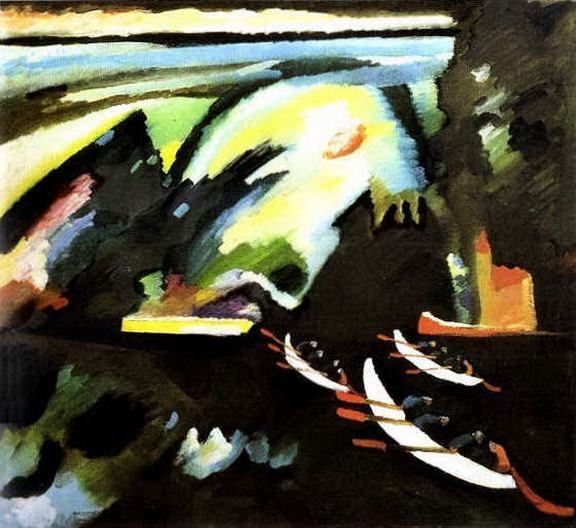 На лодке. 1910. Vasily Kandinsky