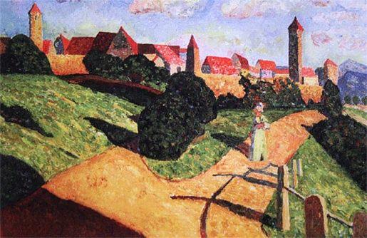 Старый город II. 1902. Vasily Kandinsky