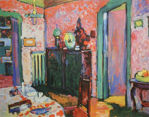 Интерьер (моя столовая). 1909. Vasily Kandinsky