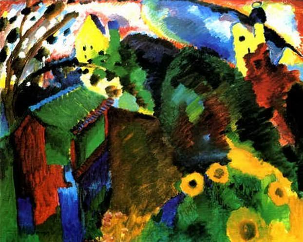 Мурнау. Сад. 1910. Vasily Kandinsky