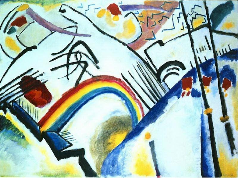 Казаки (Деталь Композиции IV). 1910. Vasily Kandinsky