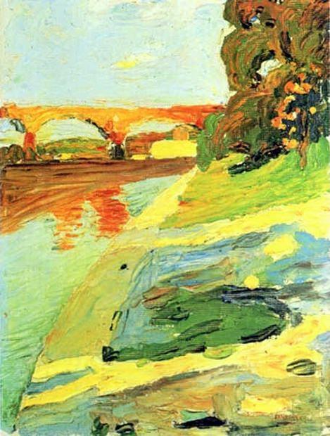 Изар около Grosshessolohe. 1901. Vasily Kandinsky