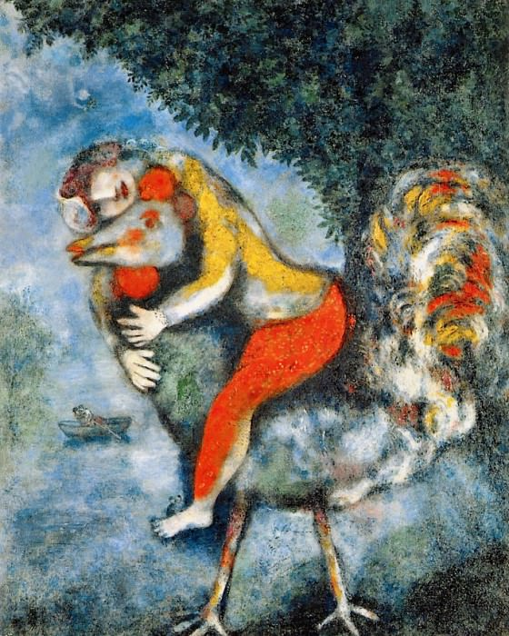 Chagall, Marc - The Cockerel (end. Marc Chagall