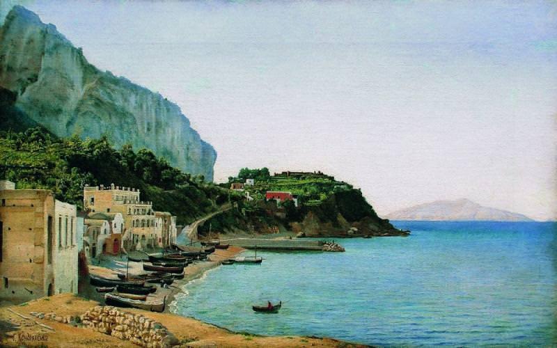 Остров Капри Около 1900 Холст масло 401 x 642 ЧС. Gavriil Kondratenko