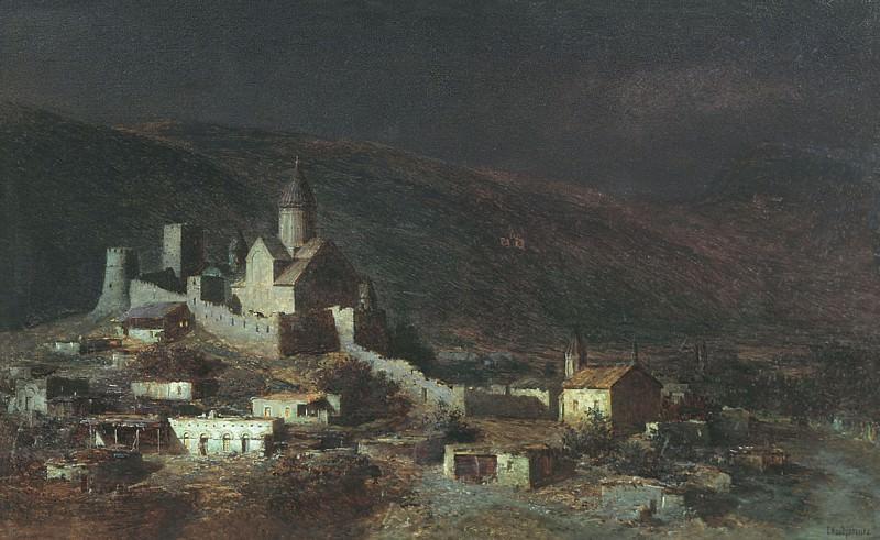 Ананур в Грузии 1882 Холст масло 72 x 121 ГТГ. Gavriil Kondratenko