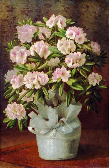 Цветы в корзине Холст масло 93 x 62 ЧС. Gavriil Kondratenko