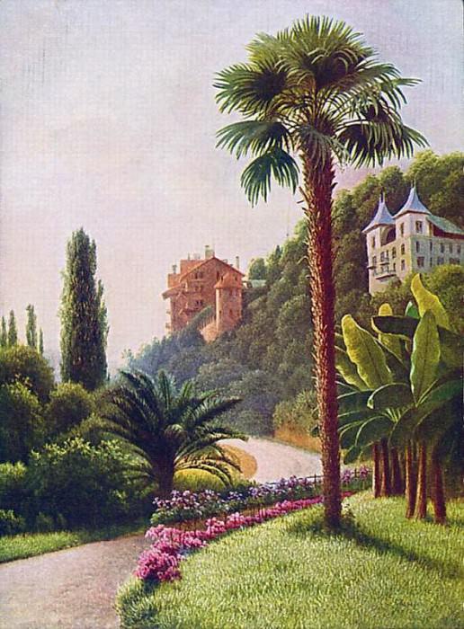 Вид с пальмой Открытка. Gavriil Kondratenko