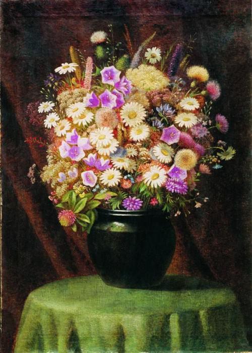 Букет цветов Холст масло 62 x 445 ЧС. Гавриил Павлович Кондратенко