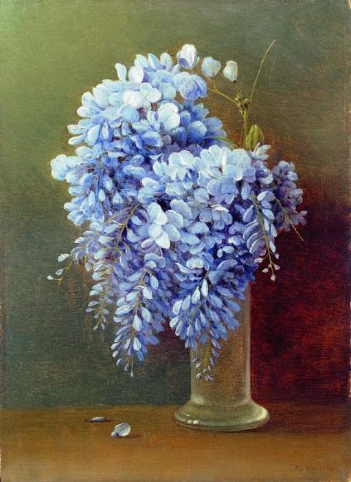 Букет глициний 1900 е Фанера масло 465 x 34 ЧС. Gavriil Kondratenko