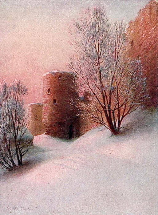 Крепость Копорье зимой Открытка. Gavriil Kondratenko