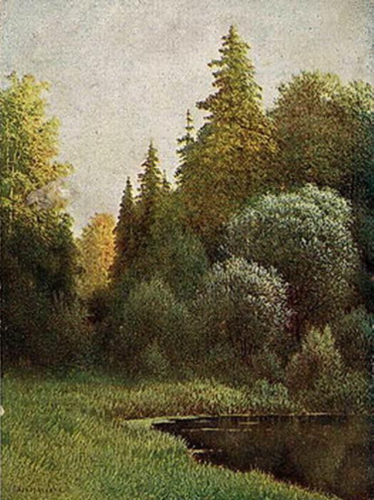 Подмосковный лес Весна Открытка. Gavriil Kondratenko
