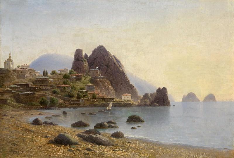 View of Gurzuf 1901 98x68 ЧС. Gavriil Kondratenko