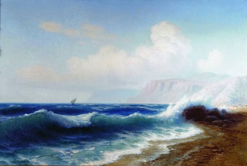 Морской прибой Начало XX века Холст масло ЧС. Gavriil Kondratenko
