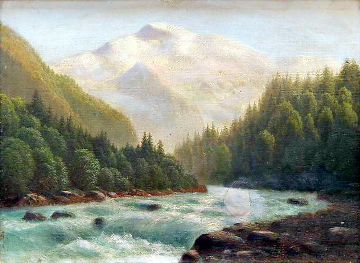 Горная речка 1890 1900 е 345х47. Gavriil Kondratenko