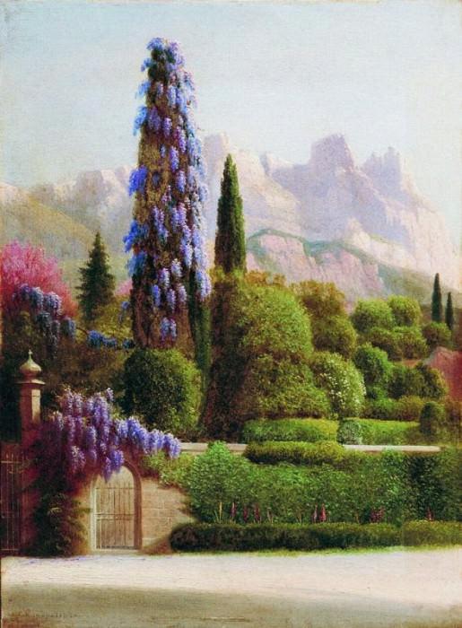 Вид на Ай Петри 1900 е Фанера масло 466 x 344 ЧС. Gavriil Kondratenko