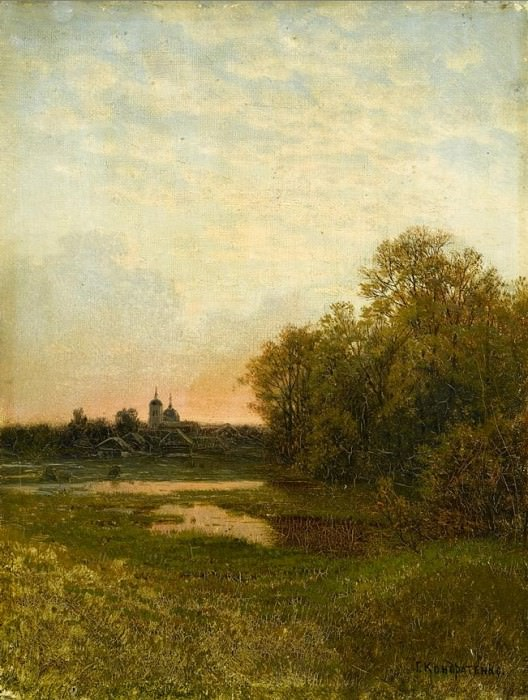 Сумеречный пейзаж 28 x 2125. Gavriil Kondratenko