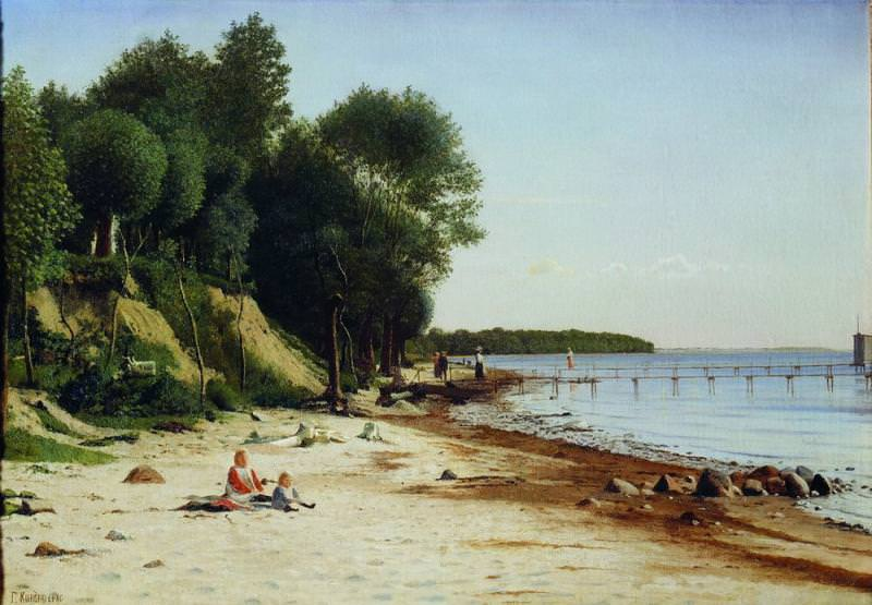 Пляж Холст масло ЧС. Gavriil Kondratenko