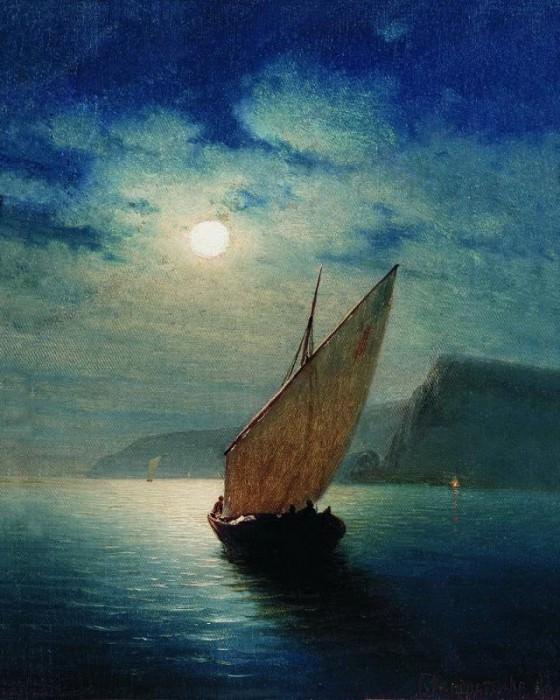 Лунная ночь 1887 Холст масло ЧС. Гавриил Павлович Кондратенко