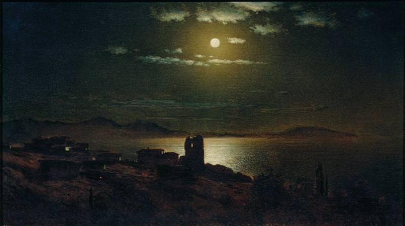 Лунная ночь Холст масло Ужгород. Gavriil Kondratenko