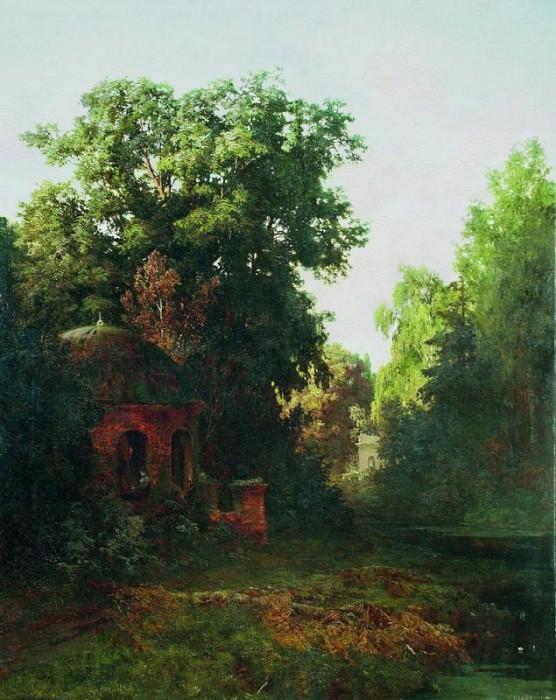 В старом парке 1880 е Холст масло 141 x 113 ЧС. Gavriil Kondratenko