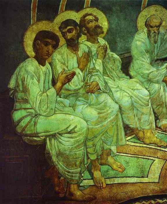 1884 Pentecote, Detail. Михаил Врубель