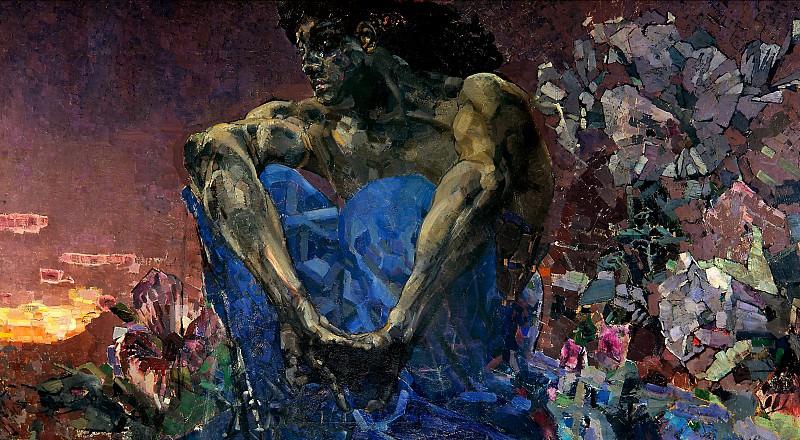 Демон сидящий 1890. Михаил Врубель (the Demon sitting)