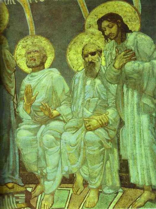 1884 Pentecote, Detail II. Mikhail Vrubel
