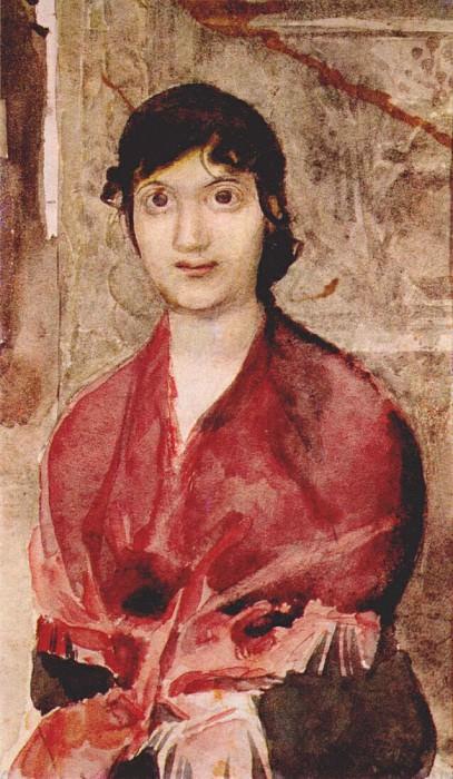 vrubel portrait of a venetian girl 1885. Mikhail Vrubel