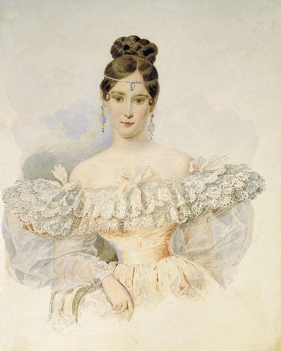 Портрет Н.Н. Пушкиной. 1831—1832. Alexander Brullov