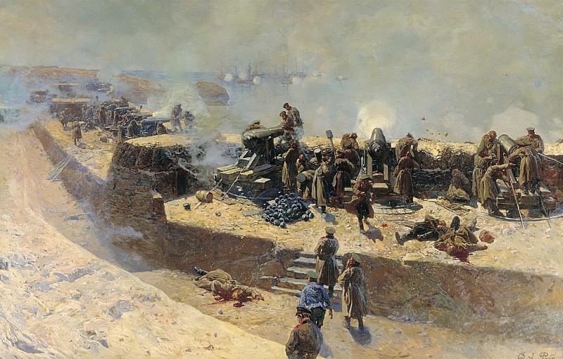 Отражение бомбардировки англо французского флота со стороны Александровской батареи 5 октября 185. Franz Roubaix