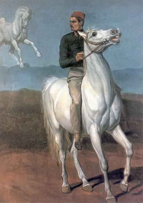 Французский солдат на белом коне. 1847. Alexander Ivanov