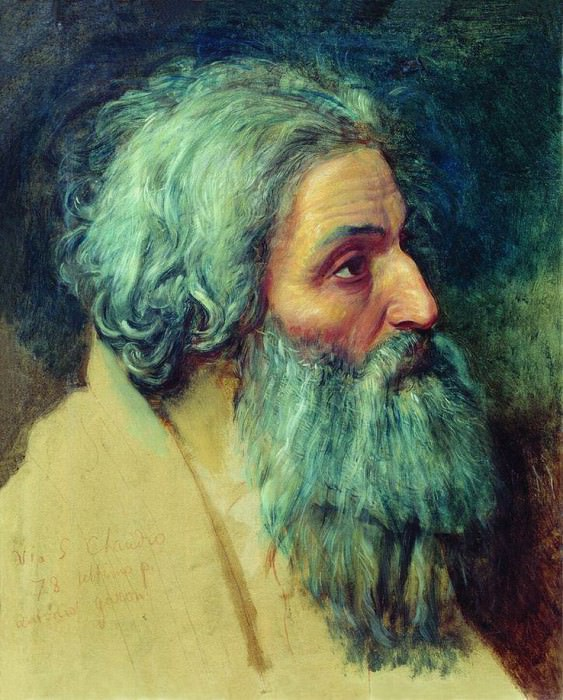 Голова апостола Андрея. Этюд. 1840-е. Александр Андреевич Иванов