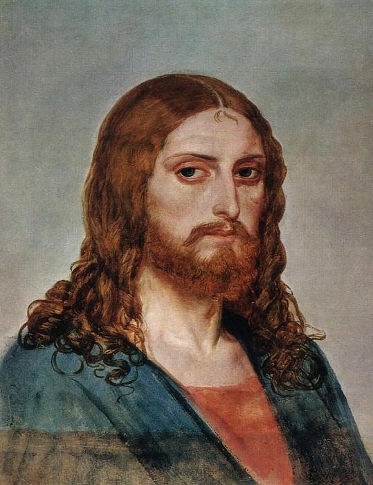 Голова Христа. 1840-е. Alexander Ivanov