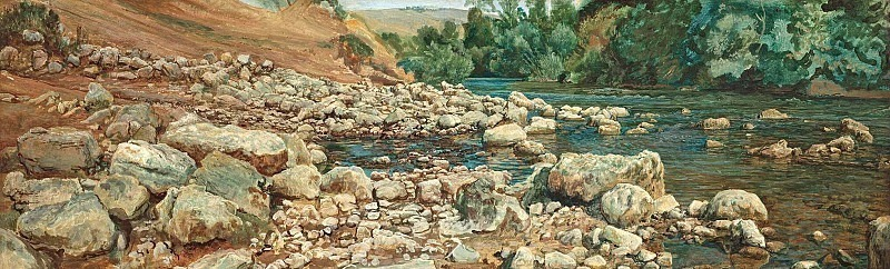 The foot of Vikovara. Stones by the river. Alexander Ivanov
