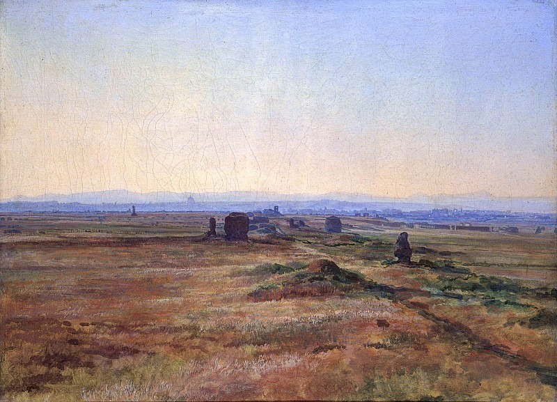 Appia Road (Via Appia) at sunset. Alexander Ivanov