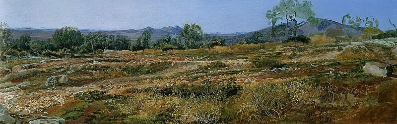 Монтичелли близ Тиволи. 1843. Alexander Ivanov