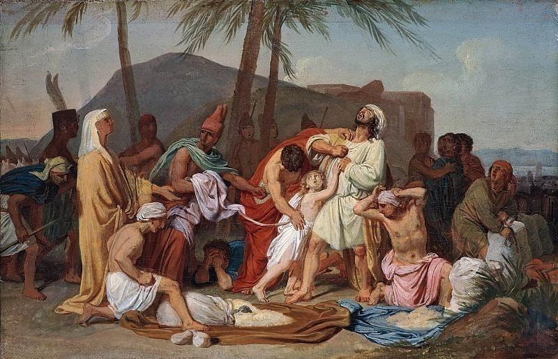 Братья Иосифа находят чашу в мешке Вениамина. Александр Андреевич Иванов