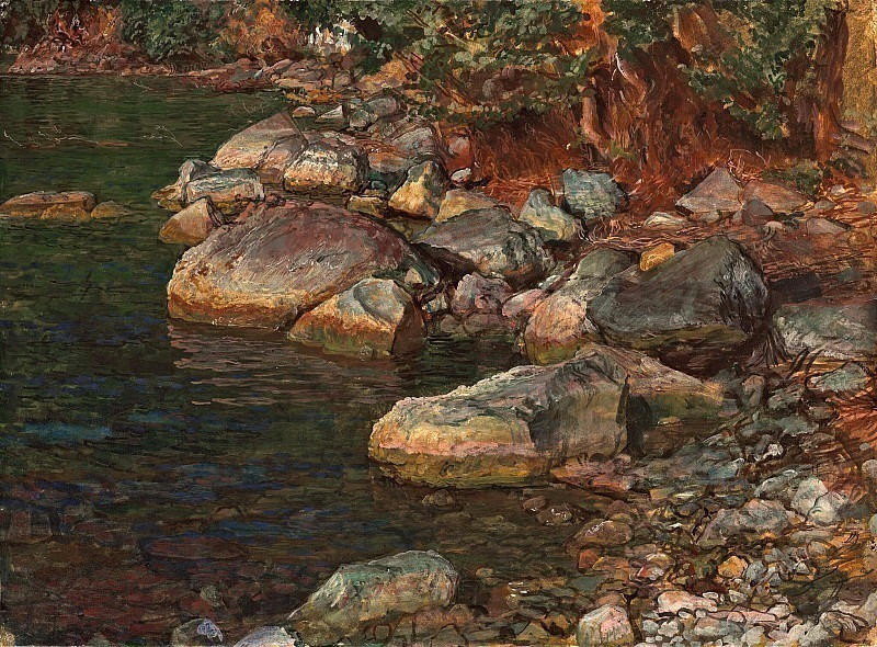 Water and stones under Palazzuolo, near Florence. Alexander Ivanov