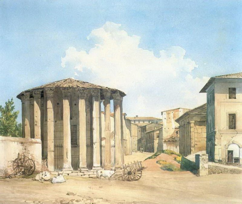 Храм Весты в Риме. Конец 1830-х. Александр Андреевич Иванов