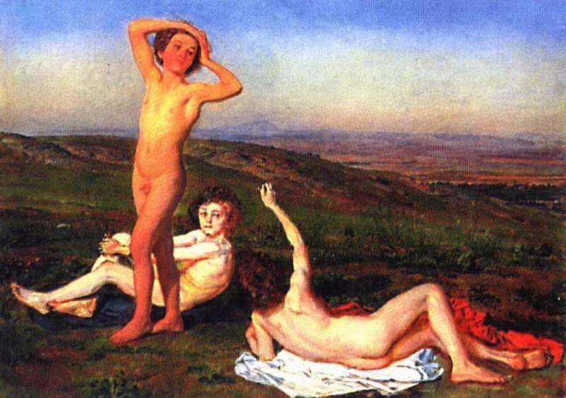 Три обнаженных мальчика. 1848-52. Alexander Ivanov