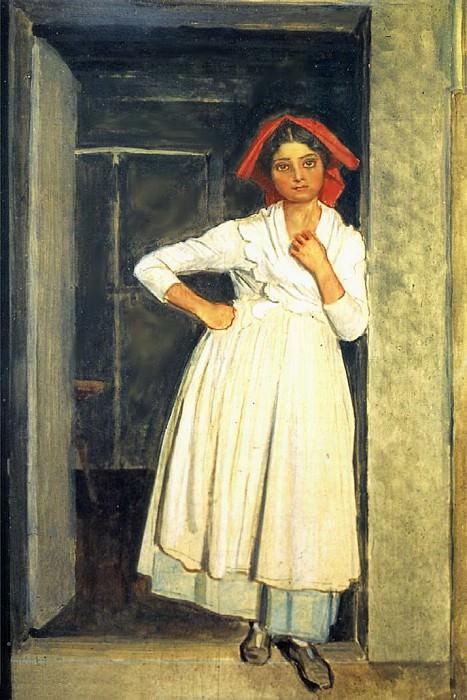 Девушка из Албано, стоящая в дверях. 1830-е. Alexander Ivanov