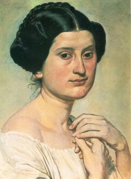 Полуфигура натурщицы Асунты. 1840-е. Александр Андреевич Иванов