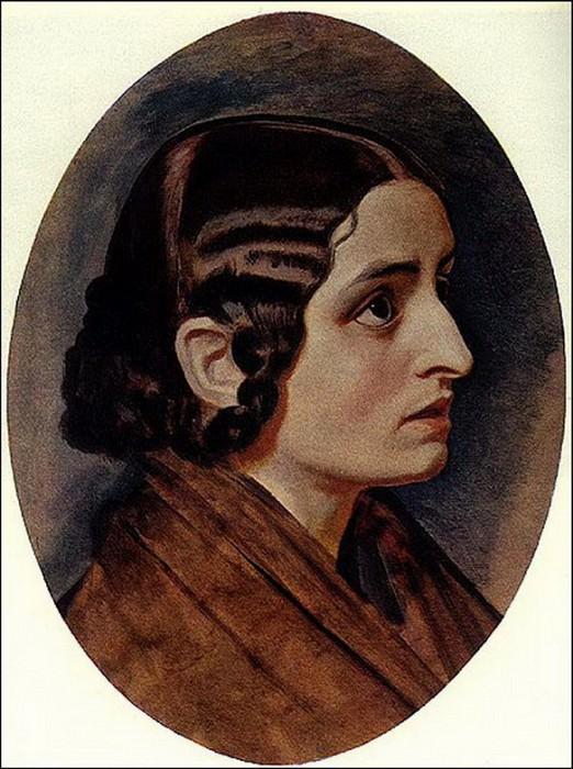 Женская голова. 1830-40-е. Alexander Ivanov