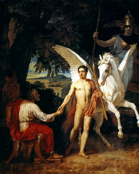 Bellerophon Leaving to Fight the Chimera. Alexander Ivanov