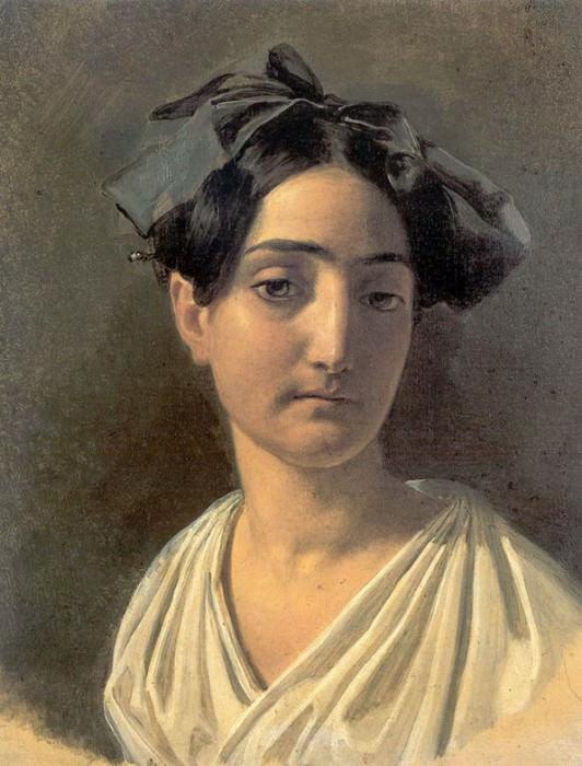 Портрет Виттории Кальдони (Лапченко). 1834. Alexander Ivanov